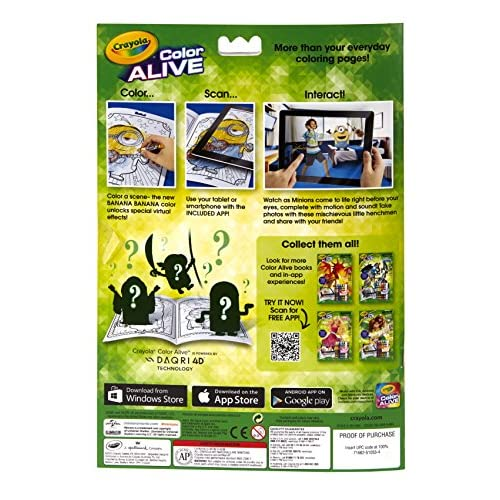 crayola color alive action coloring pages minions 60off