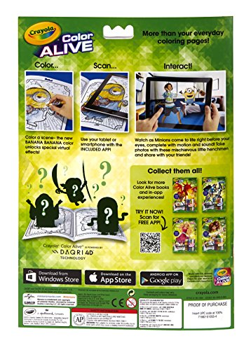 buy crayola color alive animated minions pages online at low prices in india amazonin - Crayola Color Alive Pages Minions