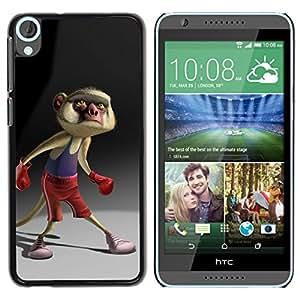 Caucho caso de Shell duro de la cubierta de accesorios de protección BY RAYDREAMMM - HTC Desire 820 - Cartoon Boxing Tail Character