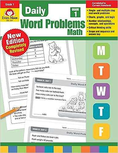 Daily Word Problems, Grade 1: Evan Moor: 9781629385389 ...