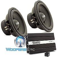 pkg Sundown Audio (2) E-12 V3 D4 12 Subwoofers + SAE-1000D Monoblock Amplifier