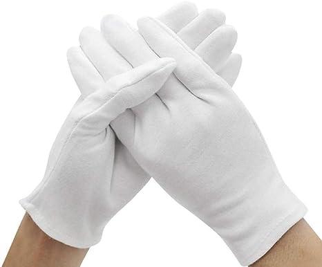 AKACLNN Guante Guantes Blancos a Cuadros de algodón Guantes de Trabajo Ligeros Guantes Unisex: Amazon.es: Deportes y aire libre
