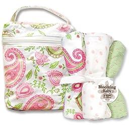 Blooming Bouquet Gift Sets - PAISLEY PARK - Bottle Bag & Burp Set
