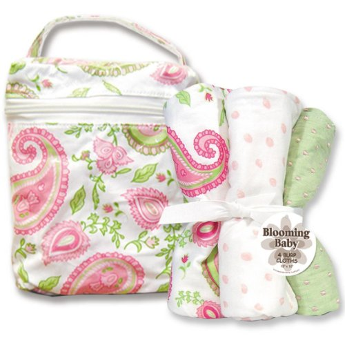 Blooming Bouquet Gift Sets - PAISLEY PARK - Bottle Bag & Burp Set - Park Bag Bottle Paisley