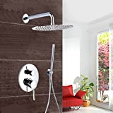 Faucet Direct Coupons 10 LightInTheBox Chrome Wall Mount Concealed Shower Set Concealed Shower Faucets 10 Inch Rainfall Round Shower Head Bath Tap Mixer