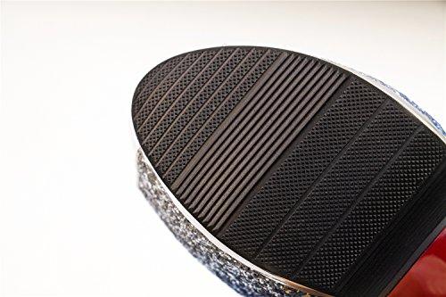 Makegsi Dames Hoge Hakken Pumps Stiletto Platform Peep Toe Sandalen Feestschoenen Paars