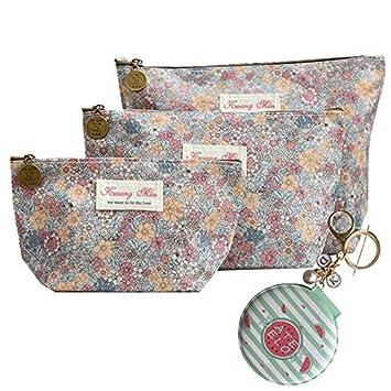 Amazon.com: Juego de 3 bolsas de cosméticos de viaje con ...