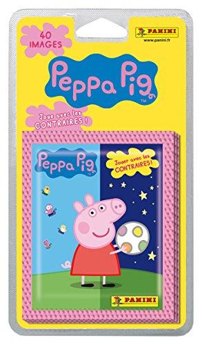 Panini - 002895BLBF8 - Pack de 40 Autocollants Peppa Pig - Joue avec les contraires
