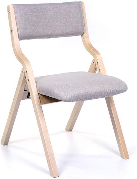 Silla Plegable, Marco de Madera, Almohadilla de Esponja, hogar Plegable, Silla de Comedor, Silla, Taburete de Madera portátil sillón (Color : A, Size : 46X41X78.5cm): Amazon.es: Hogar