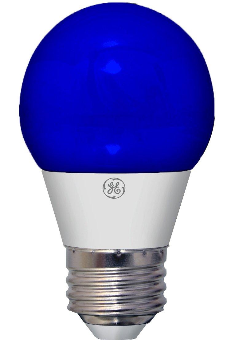 GE Lighting 92125 3-Watt LED Party Light Bulb with Medium Base, Blue, 1-Pack