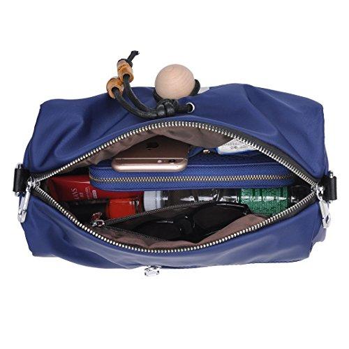 Multi Pocket Shoulder Bag Corss-body Purse Waterproof Nylon Travel Handbags for Women Fashion Waterproof Bag (Blue) by DIYNP (Image #1)
