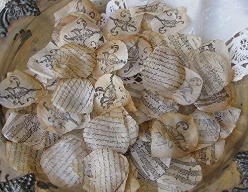 Wedding Rose Petals Rustic Bridal Shower Decorations Garden Party Confetti