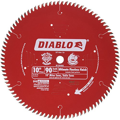 - Freud D1090X Ultra Fine 90 Teeth Circular Saw Blade for Wood and Wood Composites, 10-Inch