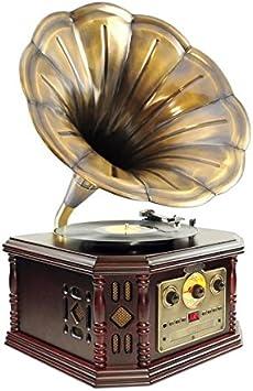 Pyle PVNP4CD tocadisco Oro - Tocadiscos (Automático, Oro, Madera ...