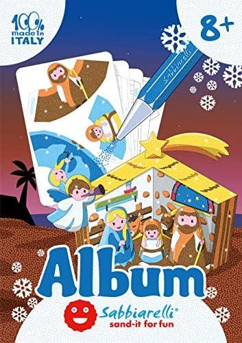 Sabbiarelli Sand-it for Fun – Album Presepe 3D da Assemblare e Colorare con la Sabbia (Non Inclusa), Decorazione di Natale, Adatto per Bambini Anni 8+