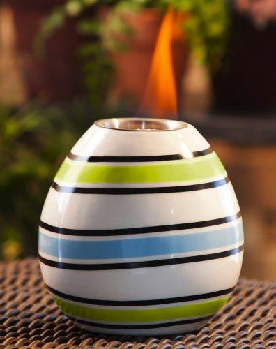 Bright Stripes Ceramic Fireside Pot