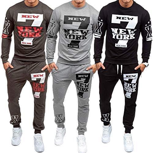 Los Hombres de otoño Invierno Impreso Sudadera Pantalones ...