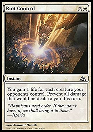 Magic The Gathering - Riot Control (6) - DragonS Maze - Foil by: Amazon.es: Juguetes y juegos