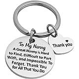 Ankiyabe Nanny Gift Keychain Thank You Gift for Nanny Child Care Gift Babysitter Gift Nanny Appreciation