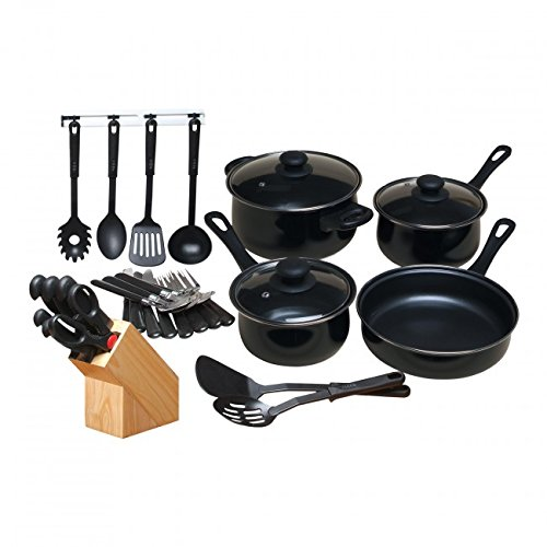 Gibson Home GH 32-Piece Non Stick Cookware Set - Black