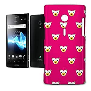 Phone Case For Sony Xperia ion - Hot Pink Polar Bears Geometric Back Lightweight