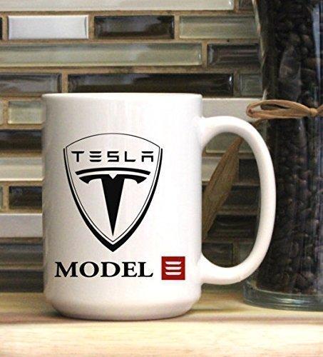 Tesla Coffee Mug, Model X, S, 3 (Tesla X Christmas Model)