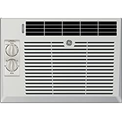 "GE AEV05LX 17"" Window Air Conditioner with 5000 Cooling BTU in Light Cool Gray"