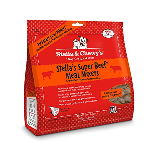 Stella & Chewy's Freeze-Dried Raw Super Beef Meal Mixers Grain-Free Dog Food Topper, 18 oz bag