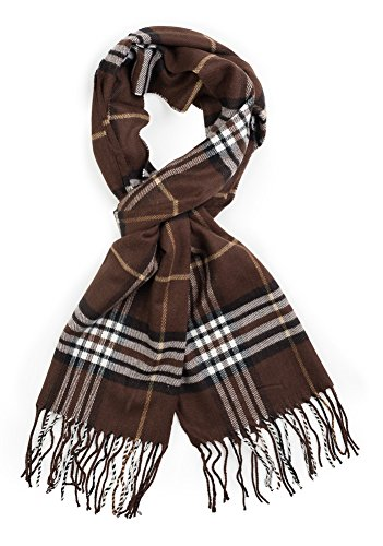 Plum Feathers Super Soft Luxurious Cashmere Feel Winter Scarf (Brown (Brown Plum)