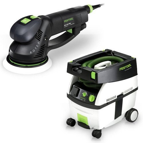 Festool PI571810 Rotex 6 in. Multi-Mode Sander with CT MIDI HEPA 3.3 Gallon Mobile Dust Extractor - Feq Sander Package