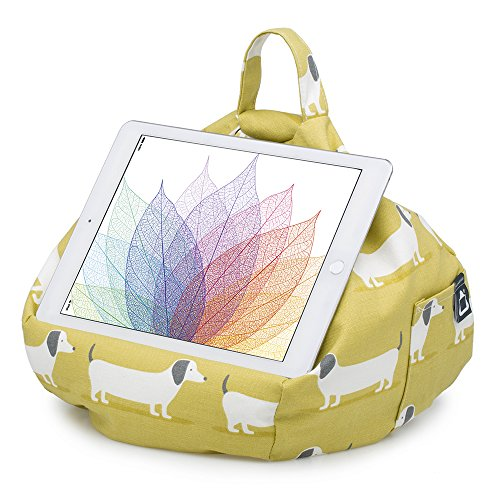 iBeani All Cushion Angle Stand Tablet Hare Any Hound amp; Bean Holder Dog on for iPad Devices Surface Bag Any rwYA7zxrq