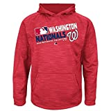 MLB Youth Authentic Collection Team Choice Streak Fleece Hoodie (Youth Small 8, Washington Nationals)