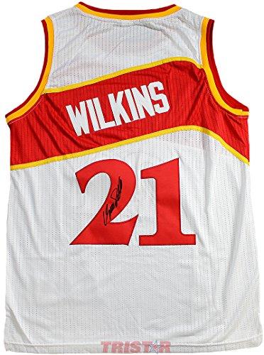 gned Autographed Atlanta Hawks Jersey TRISTAR COA (Dominique Wilkins Atlanta Hawks)