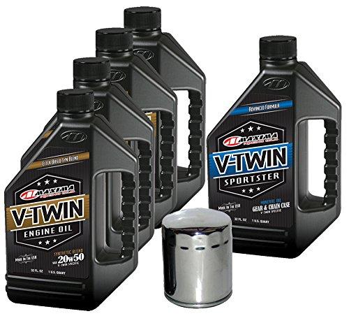 MaximaHiflofiltro VTTOCK20 Complete Engine Oil Change Kit for V-Twin Synthetic Blend Harley Davidson Sportster, 5 Quart