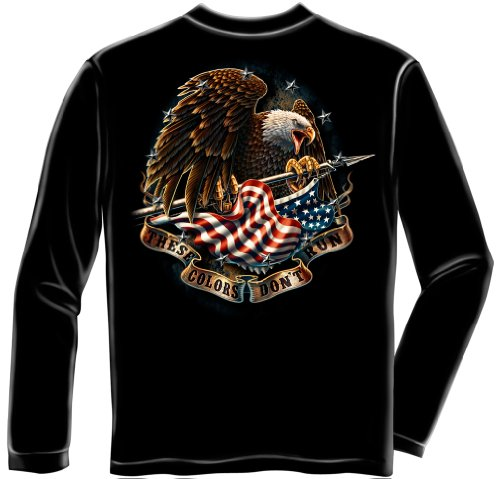 Patriotic Long Sleeve T-Shirts, 100% Cotton Casual Mens Shirts, Show Your Pride With Our These Colors Don't Run Long Sleeve Shirts for Men or Women (X-Large) (Dont Shirt These Run Colors)