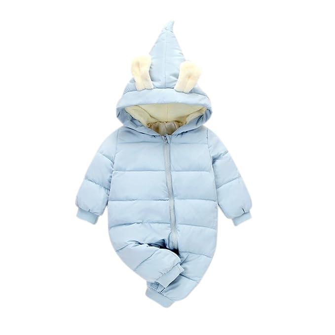 5f2af7a9ba93 Meiyiu Winter Warm Baby Girl Boy Snowsuit Cute Cartoon Hooded Zipper Romper  Lovely Ear Long Sleeves Soft Clothes: Amazon.ca: Clothing & Accessories