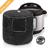 Instant Pot Carrying Bag Kitchen Appliance Cover Bag - Dustproof Pressure Cooker Cover Instant Pot Accessories 6 Quart with Front Pocket, Black