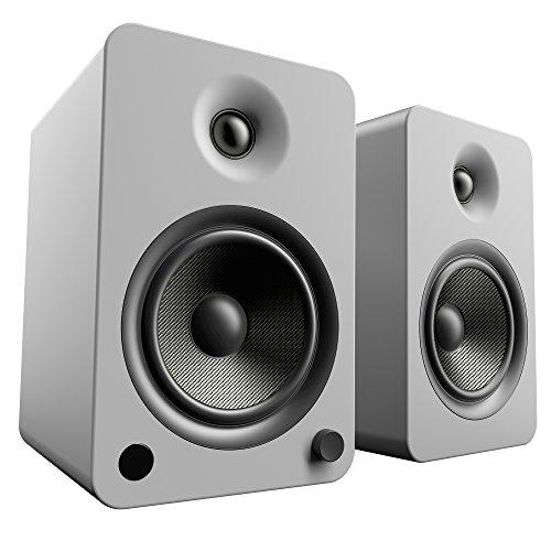 """Kanto 5-1/4"""" Powered Wireless 2-Way Bookshelf Speakers (Pair) Matte gray YU6MG"""