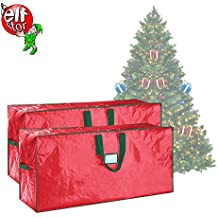 Elf Stor Set of Two Christmas Tree Storage Bags Holiday Large For up to 7.5 Ft Trees | Set of Two | Red
