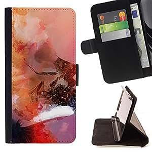 "For Samsung Galaxy E5 E500,S-type Arte de la acuarela Deep Thought Ming"" - Dibujo PU billetera de cuero Funda Case Caso de la piel de la bolsa protectora"