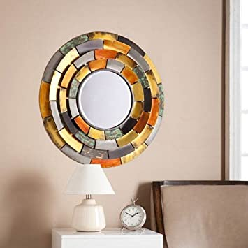 Amazon.com: Southern Enterprises Baroda Round Decorative Wall Mirror ...