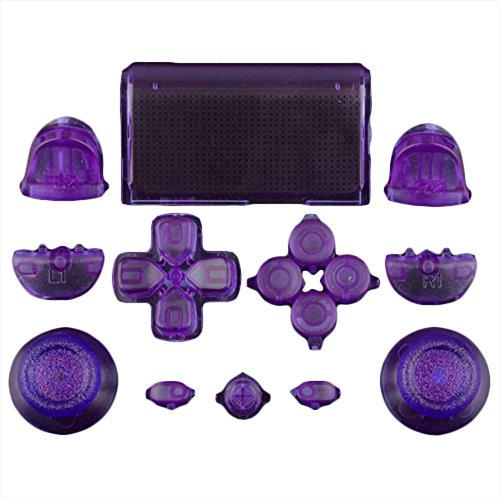 Mod Freakz Full Button Set Touch Pad Dpad Clear Purple For PS4 Gen 1 Controllers ONLY For Sale