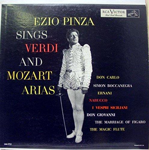 EZIO PINZA VERDI & MOZART ARIAS vinyl record