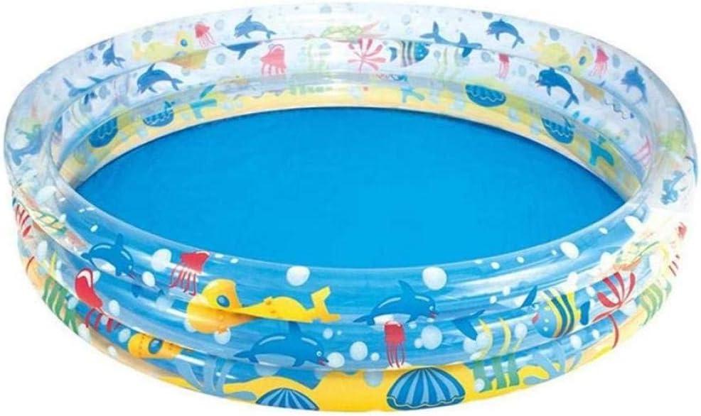 LYYJIAJU Piscina Infantil Infantil para niños con jardín al Aire Libre, 3 Anillos, Peces Tropicales, Piscina Infantil para niños - Dia A152 x A30