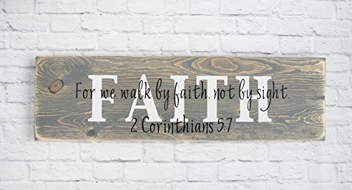 Christian Wood Sign – Bible Verse Wall Décor – Faith Sign