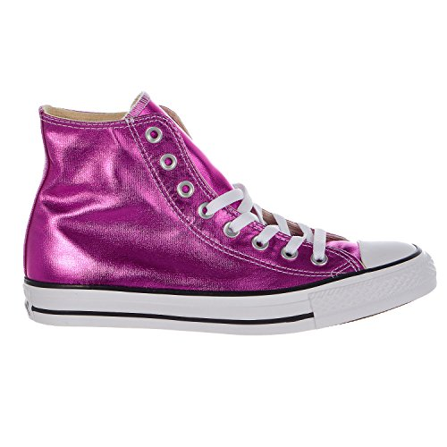 Converse Chuck Taylor All Star Metallic High Top Shoe - Purple/Magenta Glow/Black/White - Mens - 7.5 - Converse Women High Top Purple