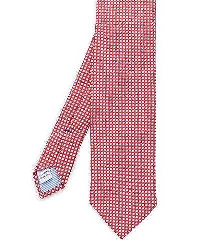 Stenstroms Men's Silk Circle Print Tie Orange One Size - Circle Print Tie