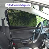 aokway Car Sun Shade - Car Side Window Shade Mesh Magnetic Universal Fit for rv Truck UV Protection 2 PCS(Front)