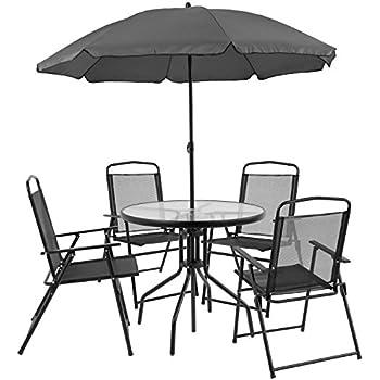 Amazon Com Flash Furniture Nantucket 6 Piece Patio Garden Set With