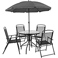 Flash Furniture Nantucket 6 Piece Patio Garden Set